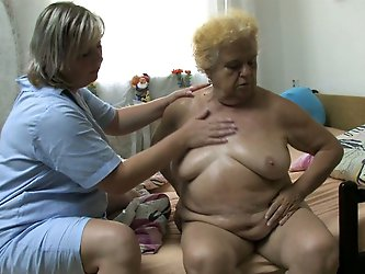 These fat masseuse knows her job well. She...