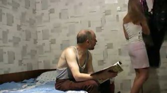 This mature Russian guy gets lucky with...