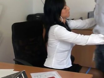 Black Nylon Secretary Sex (theny...