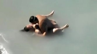 Amateur beach sex video with a BBW wife...