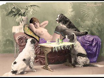 colored edwardian postcards