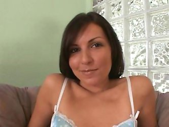 vulgar dark haired bombshell in heat gets...