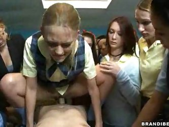 Schoolgirl Fucking A Teacher With...