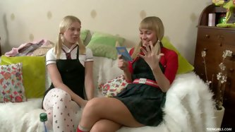 Keira and Gena are two sweet blondes that...
