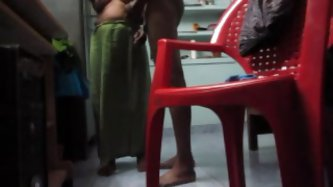 Nude naughty Indian couple talks on a cam,...