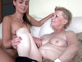 This granny is one filthy whore! She...