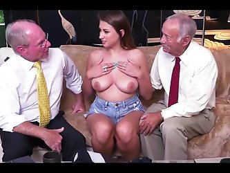 nice girl old men fucked