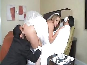 Alanah Rae is a hot bride who gets a large...