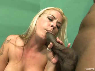 Joclyn Stone enjoys jumping on a black...