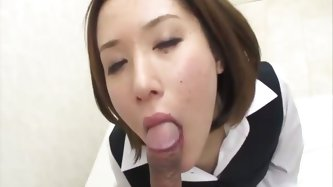 Office girl Emi Orihara is given a...