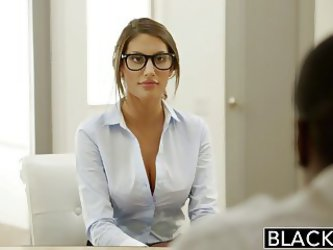 Blacked August Ames Gets An Interracial...