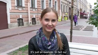 Charming Russian teen is ready to have sex...