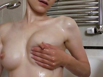 Skinny Teen Squirts Milk From Tiny Breasts...