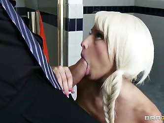 Bad big boss Rikki Six is getting his cock...