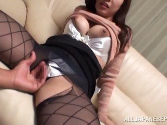 Kaori Saejima gets her pussy fingered and...