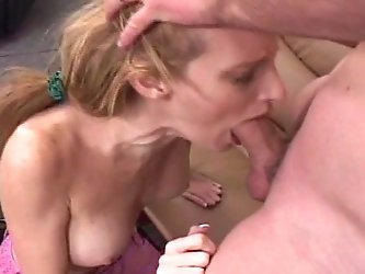 Hot mature mom sucks dick and gets her wet...