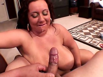 Fabulous BBW redhead MILF shows off her...