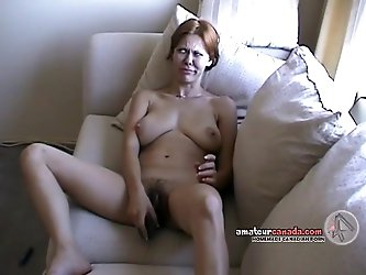 Hairy Native wife flashes huge tits on...