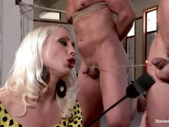 Blond mistress Lorelei Lee gets to abuse...