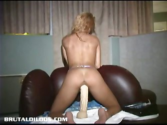 Jessy gets her tight pussy pounded by huge...