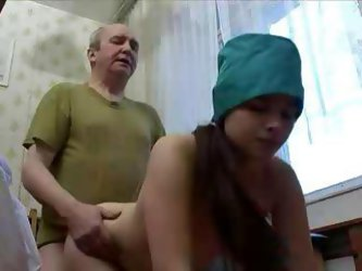 Oversexed Young Nurse Goes Down On Her Old...