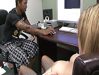 Hot bosses daughter gets fucked by a big...