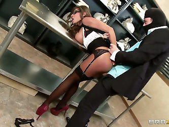 Madison Ivy with big tits enjoys James...